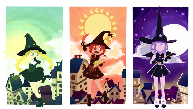 Tweeny Witches by chubbynugget