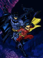 Batman and Robin - Rcarter art by SpiderGuile