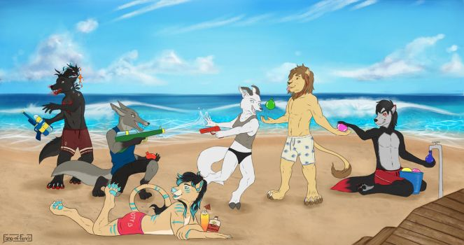 A day at the beach by Fang-of-Fenrir