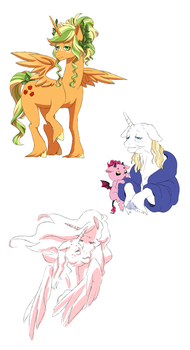 AU doodles by Pikokko