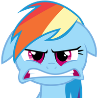 Rainbow Dash getting angry (20% angrier version) by LeonTheOriginal