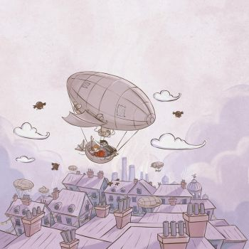 A boy and his dirigible by fyr3lyt3