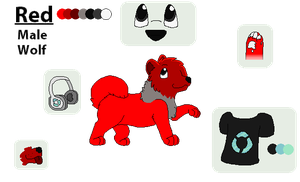 .:Reference Sheet:. Red by qalaxybutt