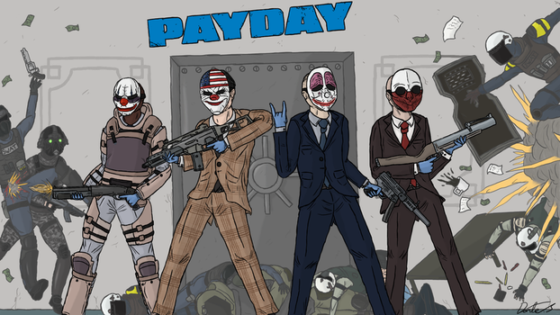 Payday: The Fan Art by SheegothHunter