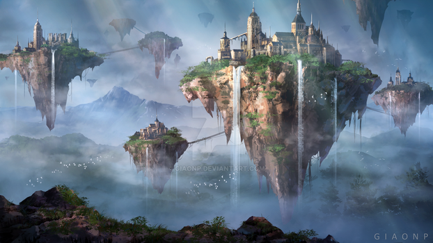 Floating ruins by giaonp