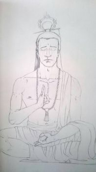 Meditation sketch  by hugofb87