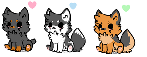 Chibi Dog Adoptables OPEN :DISCOUNTED PRICE: by kazmir2