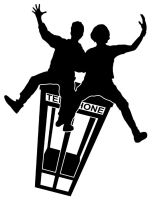 Bill and Ted silhouette by jhroberts