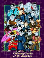 The many faces of Dr. Drakken by Dinogaby