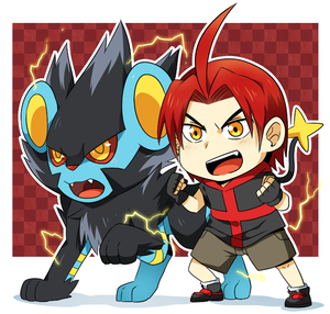 Comm: Mikhail and Captain The Luxray by seiryuuden