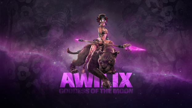 SMITE - Awilix, Goddess of the Moon (Wallpaper) by Getsukeii