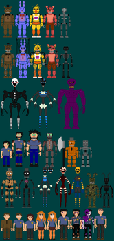 Five Nights At Freddybear's Sprite Sheet Part 1 by TommyProductionsInc