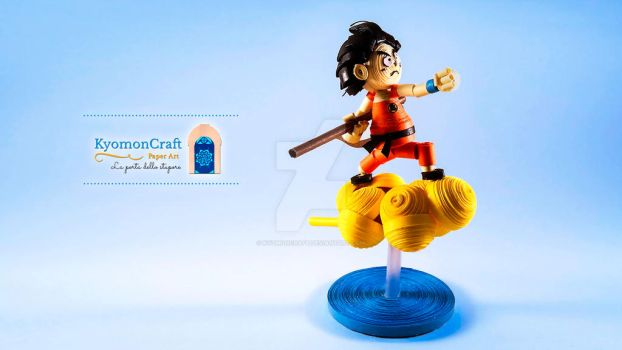 Quilling Son Goku on Kinto-un by kyomoncraft
