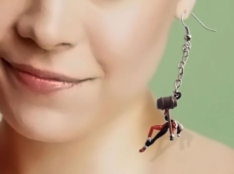Harley Quinn Earrings by JeremyMallin