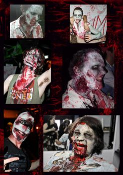 zombie makeup by The-white-bunny