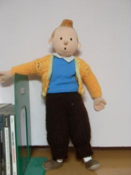 Tintin Doll w Jeans and Jacket by ojamajomary