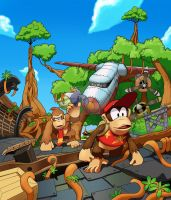 Donkey Kong Country Tropical Freeze: Mangrove Cove by MatiZ1994