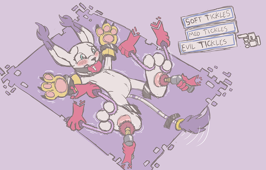 Gatomon - Tickle Option Selected by Caroos-Dungeon
