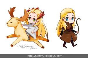 The Lord of the Rings - Legolas and Thranduil by Sensyu