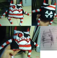 Pirate Plushie- Cap'n Spunky by toasterb0t