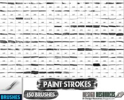 150 Paint Strokes by FakeFebruary
