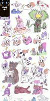 Doodle Dump of March by HoppityandBee