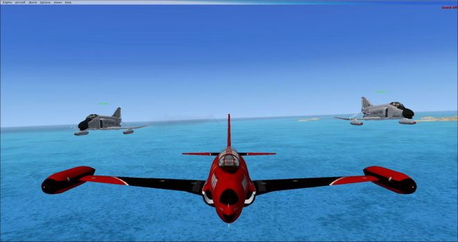 Me Ace117 and InDeepSchit in FSX 1 T-33 and F-4's by GeneralTate