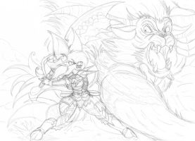 Hunting time  wip part2 by mausaba