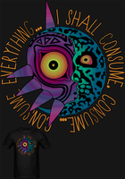 LOZ Mask In The Moon T Shirt by Enlightenup23