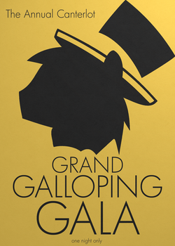 Grand Galloping Gala Poster by BTedge116