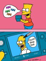 Bart Playing DS Revisited by DJgames