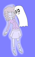 Napstablook X Hannah!! by MintyMagic74
