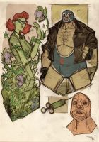 Poison Ivy and Bane Rockabilly by DenisM79