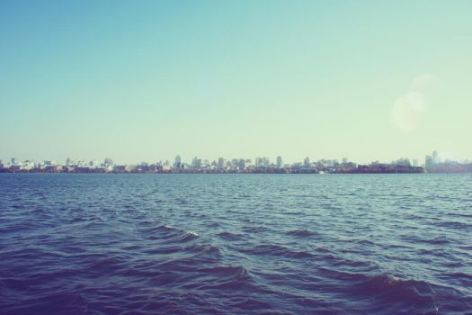 Cityscape on Water by BANDITNATOR