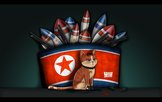 Kat Jong Un by Hopey-mean