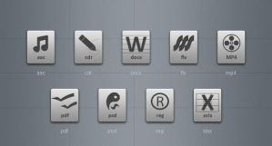 Grey File Type Icons 3 by blymar