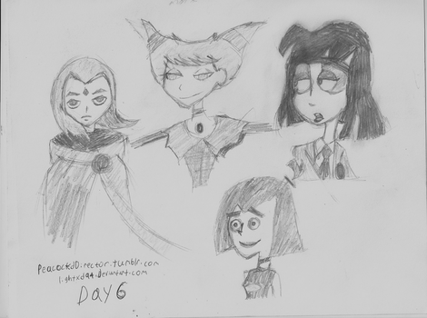 Day 6 toon goth girls by PeacockChan