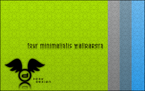4 minimalistic wallpapers by d3sy