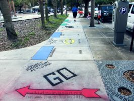 Life Size McDonald's Monopoly Board by ChalkTwins