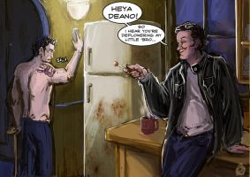 SPN: Trickster in the Kitchen by Jade-Magic