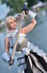 Saber Lily with Excalibur by Cosmy-Milord