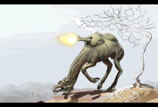 Cyborg Camel by Andromonoid