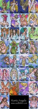sketch cards - Rantz Angels by dixey