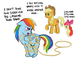 MLP:FiM Day 12 - Her cutie mark won't be a lasso by ah-darnit
