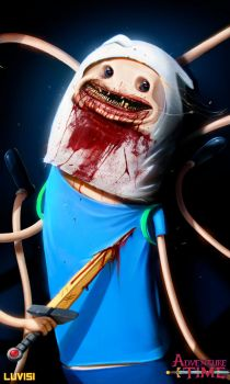 Nightmare Finn - Adventure Time - by DanLuVisiArt