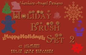 Holiday Brush Set 2 by Cheshire-Angel