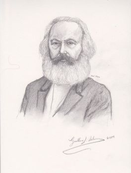 Karl Marx by GuillermoLabrador