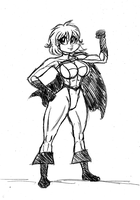 Power Girl by Frogwalker