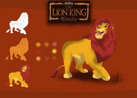 drawing adult simba by l3nbak