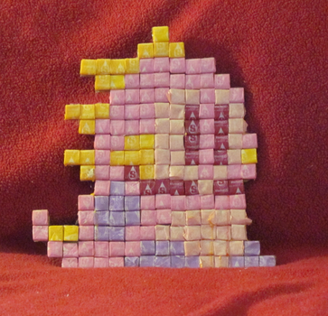 Bubble Bobble Dinosaur made out of Starburst candy by Anayo-s